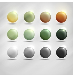 Colorful Round Buttons vector image