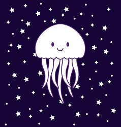 cute jellyfish icon vector image