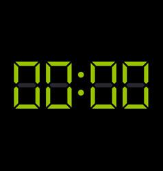 Digit electronic numbers zero watch display black vector