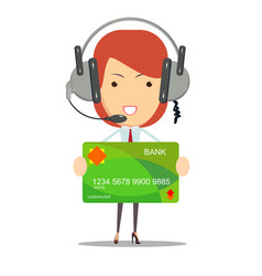 Dispatcher bank customer service vector