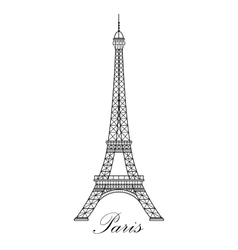Eiffel tower isolated vector image