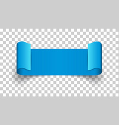Empty ribbon icon blank sticker label on isolated vector