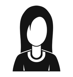 Female avatar profile picture icon simple style vector image