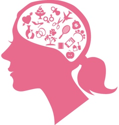 Female mind vector image