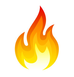 fire icon hot red and orange design vector image
