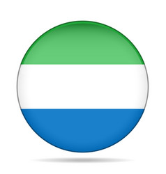 Flag of sierra leone shiny round button vector