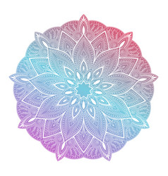 Flower mandala vintage decorative element vector