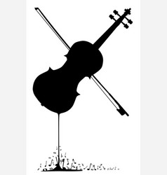 Flowing fiddle music vector