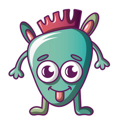 funny monster icon cartoon style vector image