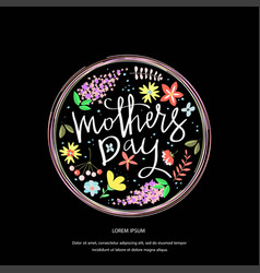 greeting card design with stylish text mothers day vector image