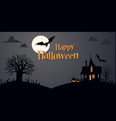 Halloween background template vector