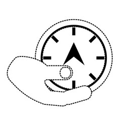hand with speedometer vector image