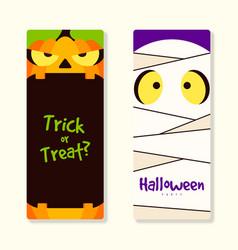 happy halloween party banner template design vector image