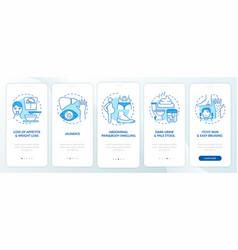 Hepatic disease signs onboarding mobile app page vector