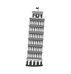 icon of the tower of pisa vector image