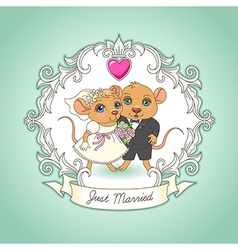 Just married card vector