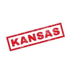 Kansas Rubber Stamp vector