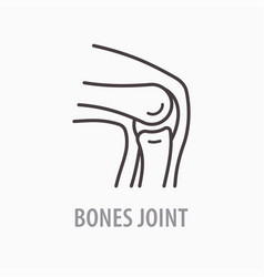 Knee line icon on white background vector