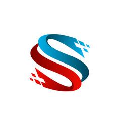 letter s technology logo design concept template vector image