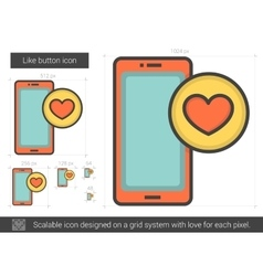 Like button line icon vector