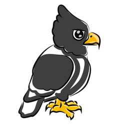 Little eagle on white background vector