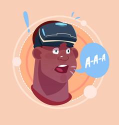 Man screaming african american male emoji wearing vector