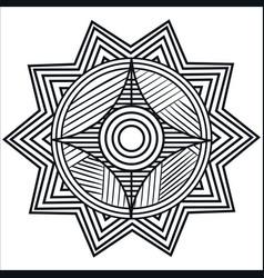 Mandale monochrome art icon vector