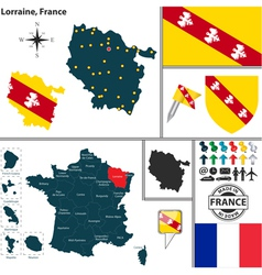 Map of Lorraine vector image