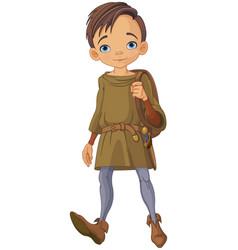 Medieval boy vector