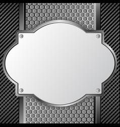 Metal plaque vector