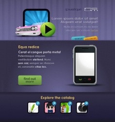mobile stuff website template vector image