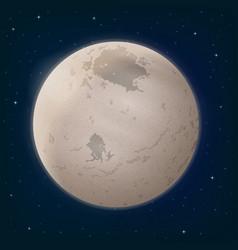 Moon charon in space vector