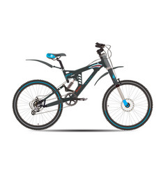 mountain bike in flat style vector image