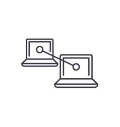 p2p communication line icon concept p2p vector image