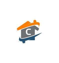 Parenting life home care initial c vector