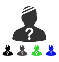 Patient query flat icon vector