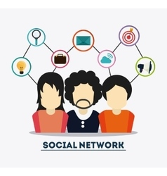 People and icon set design Social Network vector