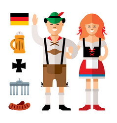 people germany flat style colorful cartoon vector image