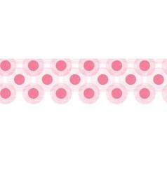 Pink textile circles horizontal seamless patter vector