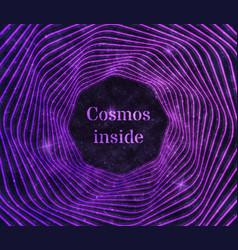purple cosmos background vector image