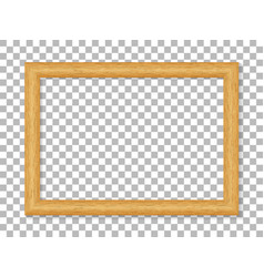 realistic wooden picture frame isolated on vector image