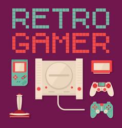 Retro gamer concept vector