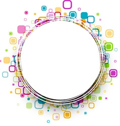 Round background with geometric pattern vector image