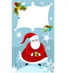 Santa sign vector image
