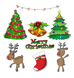 Set of christmas decors vector image
