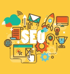 Set of modern SEO social marketing to publishing vector