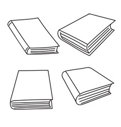 Set sketch books vector