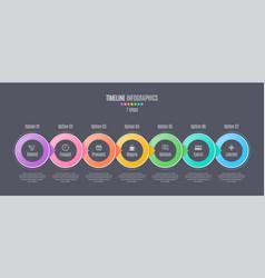 Seven steps infographic timeline presentation vector
