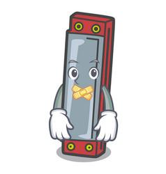 Silent harmonica mascot cartoon style vector