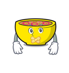 Silent soup union mascot cartoon vector